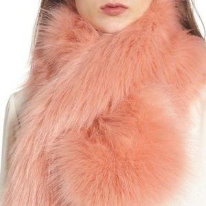 NWT Halogen (Nordstrom) Pink Fake Fur Stole